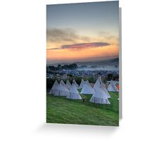 Glastonbury Festival Sunset Greeting Card