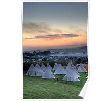 Glastonbury Festival Sunset Poster
