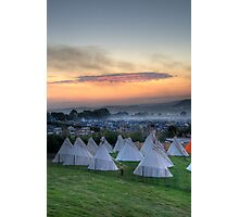 Glastonbury Festival Sunset Photographic Print