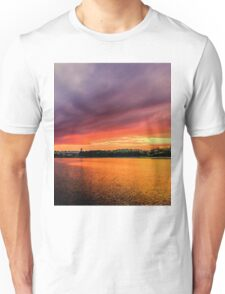 Colorful Sunset in Boston, Ma Unisex T-Shirt