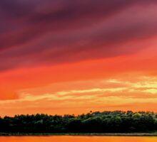 Colorful Sunset in Boston, Ma Sticker