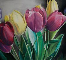 Rainbow of Tulips by bstoutart