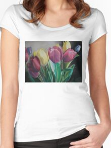 Rainbow of Tulips Women's Fitted Scoop T-Shirt