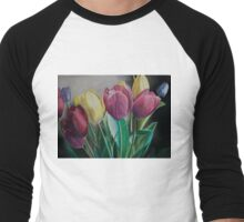 Rainbow of Tulips Men's Baseball ¾ T-Shirt