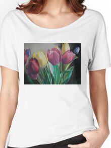 Rainbow of Tulips Women's Relaxed Fit T-Shirt