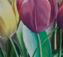 Rainbow of Tulips Sticker