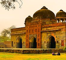 North India - Humayun's  tomb - New Delhi 7 by Geoffrey Thomas