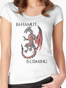 Bahamut Is Coming Women's Fitted Scoop T-Shirt