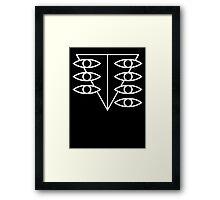 Seele Eyes (White) Framed Print