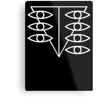 Seele Eyes (White) Metal Print