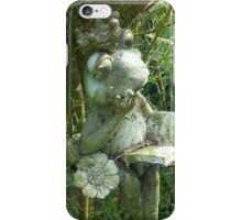 Lonely queen frog iPhone Case/Skin