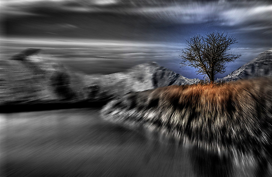 Black and White Blur with Color by Tim Wright