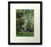 Inviting Bench Framed Print