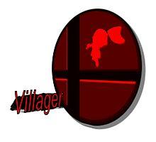 Smash Bros. Villager Tag Photographic Print