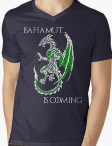 Bahamut Is Coming V2 Mens V-Neck T-Shirt