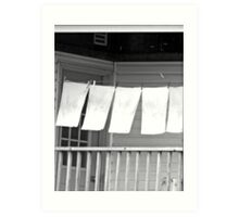 ...out to dry... Art Print