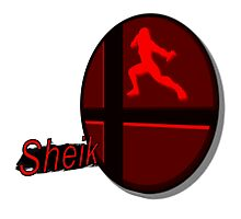 Smash Bros. Sheik Tag Photographic Print