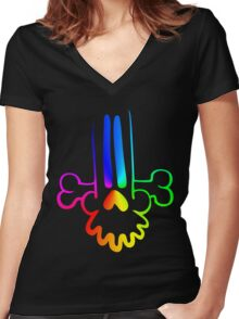 CueBone Women's Fitted V-Neck T-Shirt