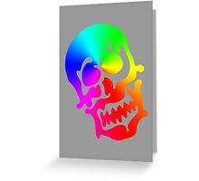 "Color ""Blob"" Skull Greeting Card"