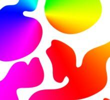 """Color """"Blob"""" Skull Sticker"""