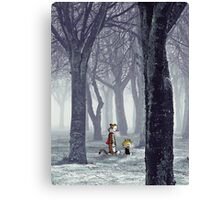 Calvin and Hobbes Winter Canvas Print