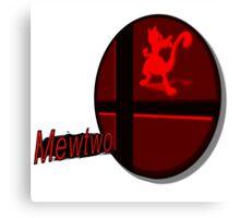 Smash Bros. Mewtwo Tag Canvas Print