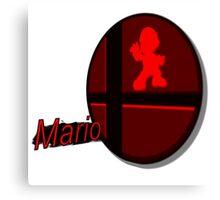 Smash Bros. Mario Tag Canvas Print