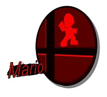 Smash Bros. Mario Tag Photographic Print