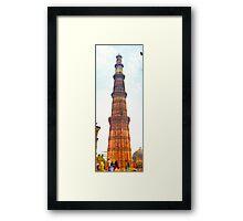 North India - Qutab Minar - New Delhi 2 Framed Print