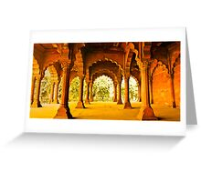 North India - Red Fort - New Delhi 2 Greeting Card