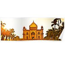 North India - Safdarjung's  tomb - New Delhi 2 Poster