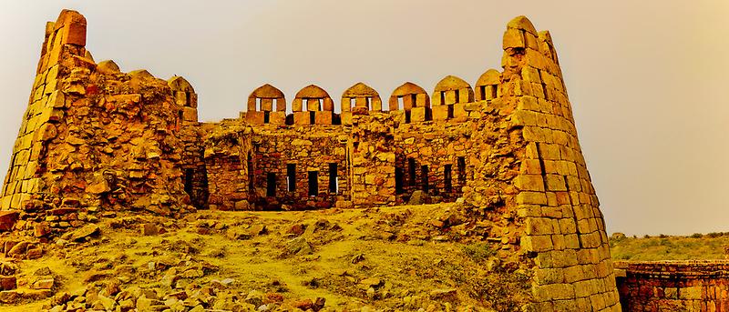 North India - Tughlaqabad Fort  - New Delhi 1 by Geoffrey Thomas
