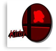 Smash Bros. Kirby Tag Canvas Print