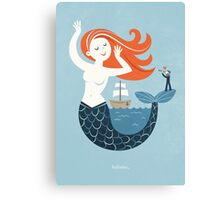 Hello Mermaid Canvas Print