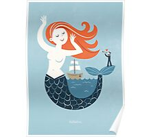 Hello Mermaid Poster