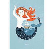 Hello Mermaid Photographic Print