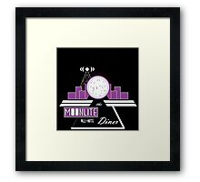 The Moonlite All-Nite Diner Framed Print