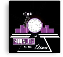 The Moonlite All-Nite Diner Canvas Print