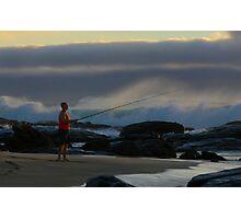 Fishing on the beach Margaret River Western Australia Photographic Print