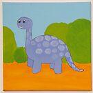 Purple Dinosaur by Nursery Wall Decor