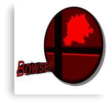 Smash Bros. Bowser Tag Canvas Print