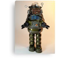 Billiken Shokai Tin Wind Up Robby the Robot Canvas Print
