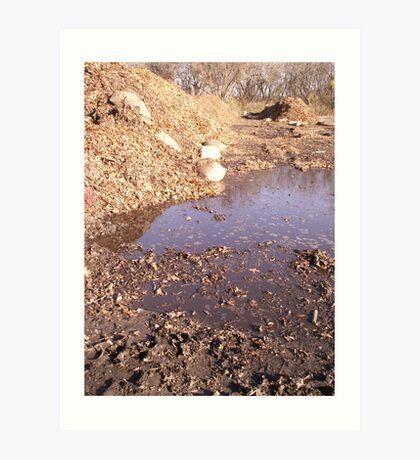 muddy situation Art Print