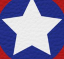 Leather Captain America Shield Sticker