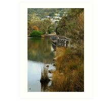 Boardwalk Lorne Art Print