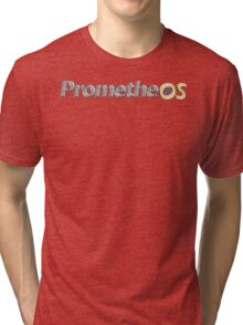 PrometheOS official merchandise of the Linux desktop Operating System - Open Source Software Tri-blend T-Shirt