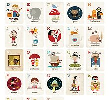 Il Mio Alfabeto Poster - Vertical by hellobea