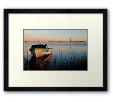 Sun-up on Lake Fyans Framed Print