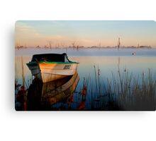 Sun-up on Lake Fyans Metal Print