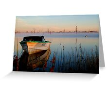 Sun-up on Lake Fyans Greeting Card